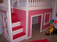 pink loft and playhouse