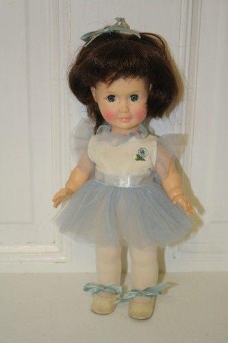 "1980 Effanbee Day by Day Tuesday Ballerina sleepy eye doll 11"". $20 Green eyes, black hair"
