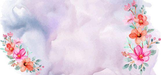 ألوان مائية الزهور الخلفية بألوان الباستيل Floral Watercolor Colorful Backgrounds Floral Background