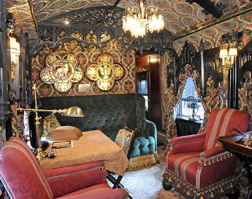 Front parlor of the Patron Tequila Express rail car.