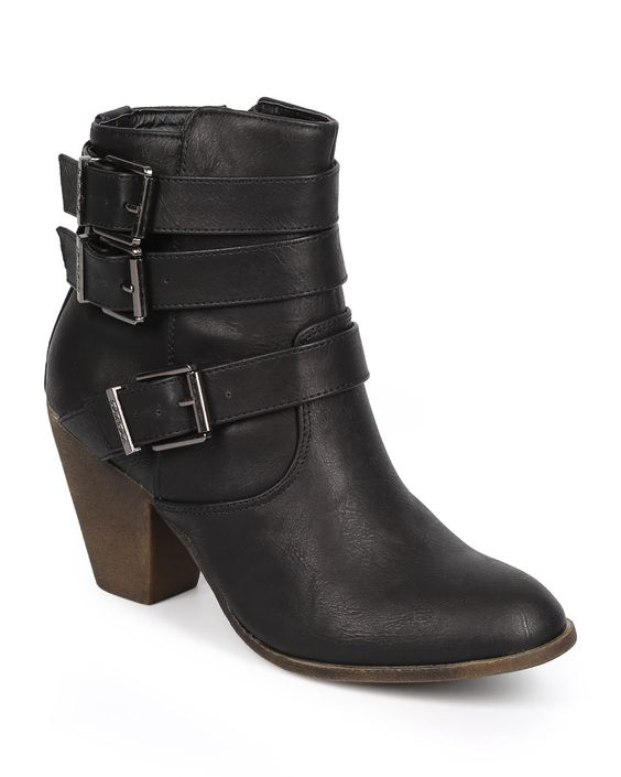 New-Women-DbDk-Finny-1-Leatherette-Almond-Toe-Strappy-Zip-Riding-Bootie-Size