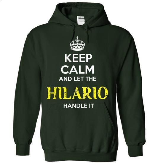 HILARIO - KEEP CALM AND LET THE HILARIO HANDLE IT - create your own shirt #maxi tee #sorority tshirt