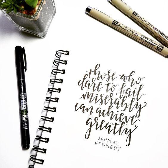 I dare you. 😎 #sparkletters #handlettering #lettering #letteringco #calligraphy #moderncalligraphy #typography #type #typeface #typegang #typedaily #typespire #thedailytype #thedesigntip #tombow #brushlettering #design #quotes #quoteoftheday #handmadefont #blackandwhite #flatlay #doodle #inspire #inspiration #motivation #motivationalquotes #daretodream #jfk