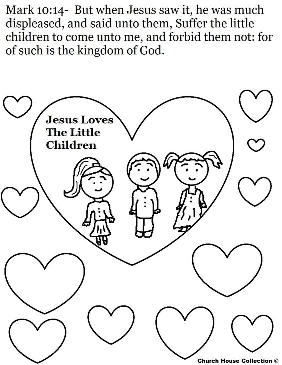 Jesus loves the little children Coloring Pagejpg 10201320