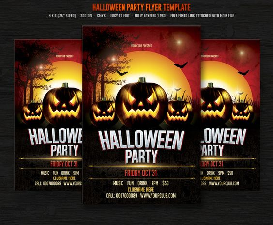 Check out Halloween Party by DesignWorkz on Creative Market - halloween party flyer