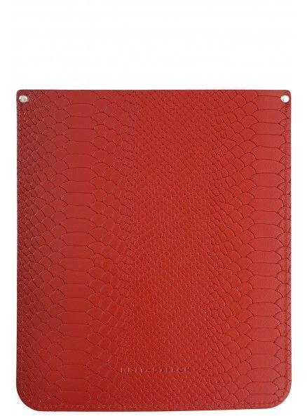 Brit-Stitch Red Croc Print iPad Sleeve