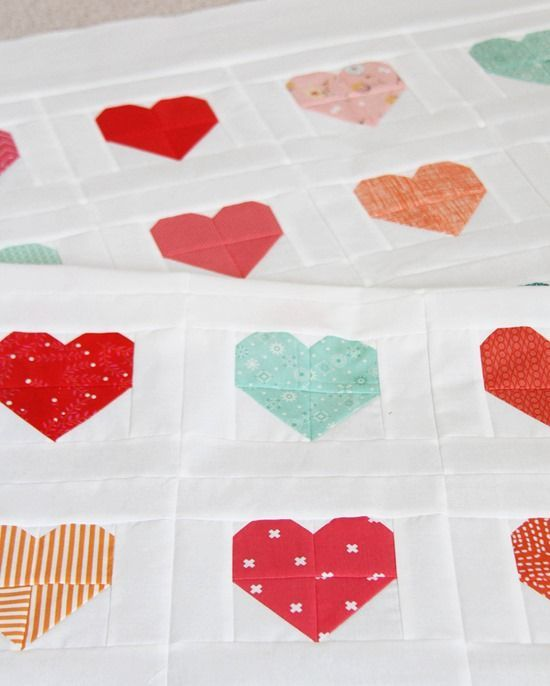 Simple Heart Quilt + Tutorial | Cluck Cluck Sew | Bloglovin':
