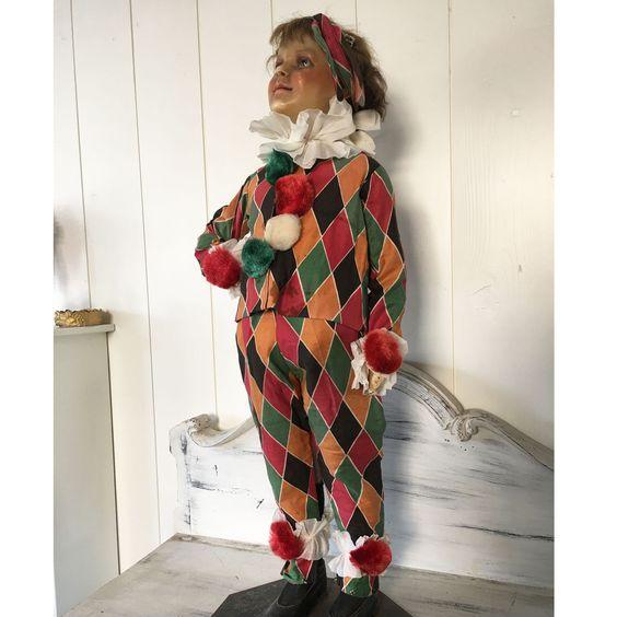 1930 40'Sfrench Child's Clowns Costume Pierrot Harlequin | eBay
