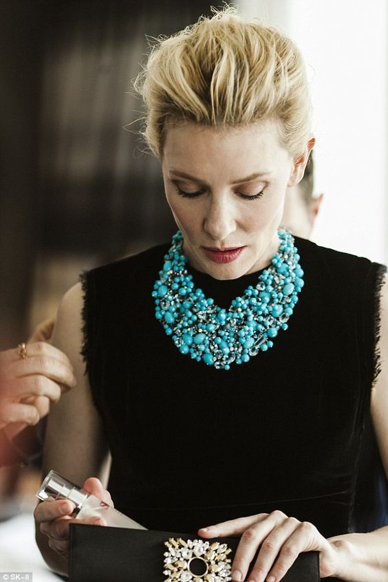 Tried and tested: Cate was the first to try out theMid-Day Miracle Essence by skincare brand SK-II, of which is ambassador