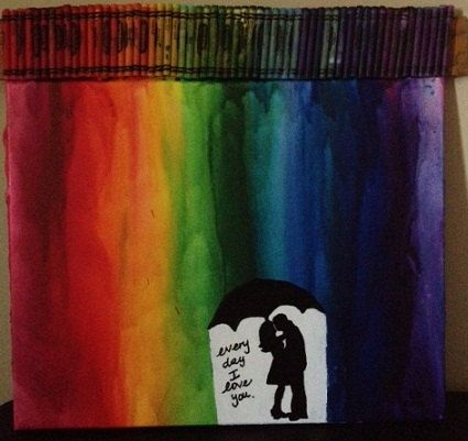 Pinterest the world s catalog of ideas for Melted crayon art with quotes
