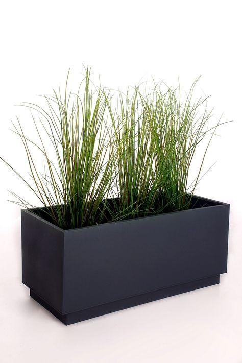 Pflanzkubel Pflanztrog Zink Maxi Anthrazit Pflanzen