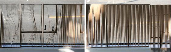 Am Modell wurden verschiedene Varianten durchgespielt sowohl in Bezug auf Licht- und Blickführung, als auch auf das äußere Erscheinungsbild.