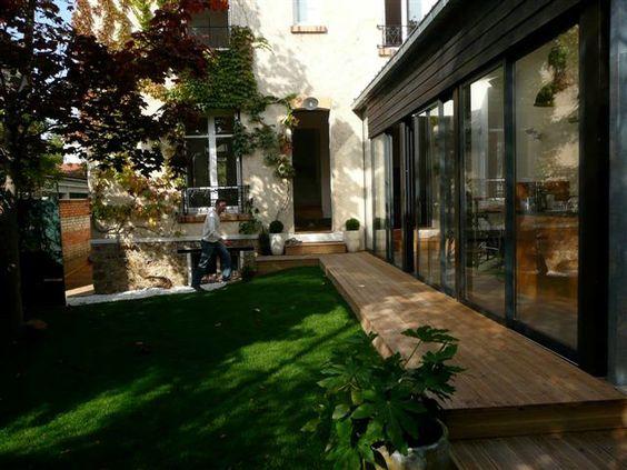 architectes extension d une maison 92 bois colombes extension pinterest d. Black Bedroom Furniture Sets. Home Design Ideas