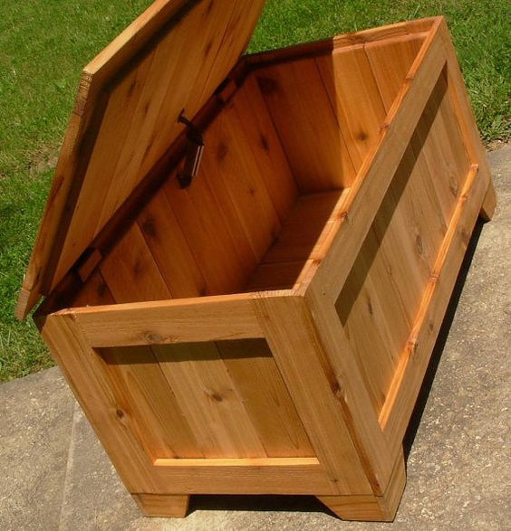 Rustic Reclaimed Cedar Toy Box Blanket Chest Coffee By