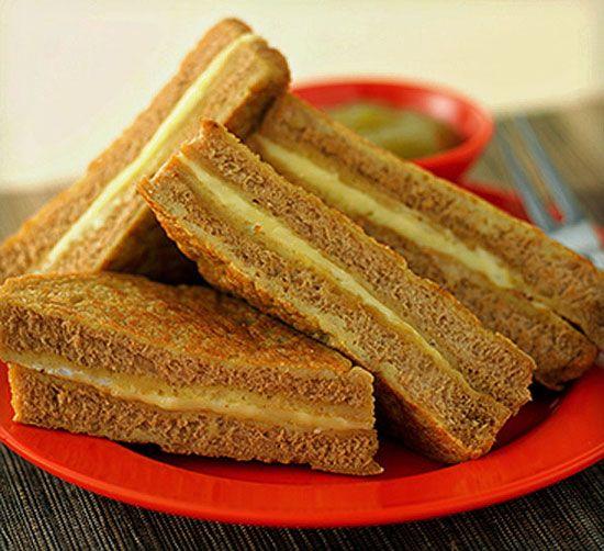 Bánh mỳ nướng Kaya thơm ngon hấp dẫn.