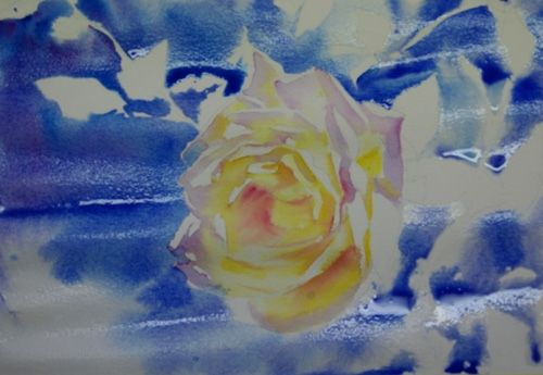 Pas A Pas Rose Jaune Accessible Aquarelle Marichalar