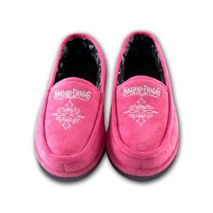Pink house shoes with silver lurex embroidered art work. Printed paisley sock liner.
