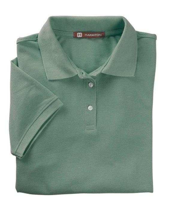 Harriton Womens Easy Blend Short Sleeve Polo Shirt M265W