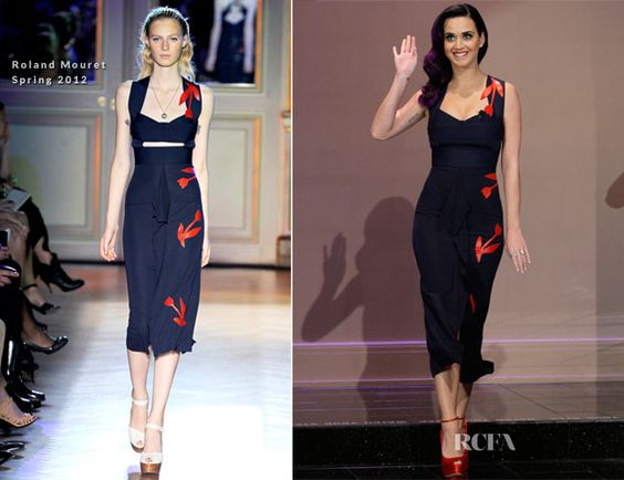 Katy Perry In Roland Mouret - The Tonight Show with Jay Leno