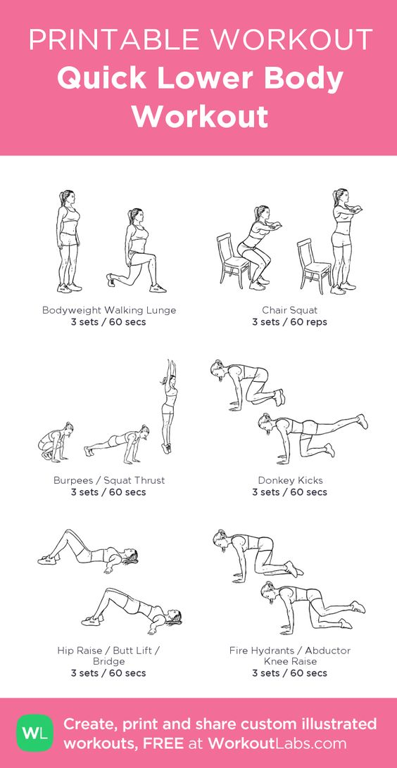 Quick Lower Body Workout: my visual workout created at WorkoutLabs ...