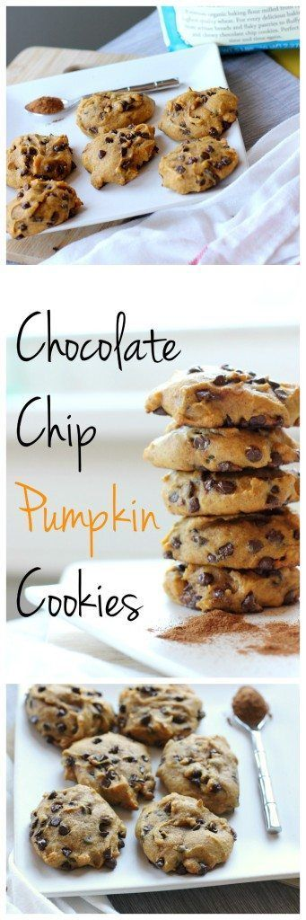 These vegan pumpkin chocolate chip cookies are a healthier twist on a regular chocolate chip cookie! Loaded with pumpkin and chocolate, make these for your next party!