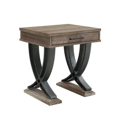 Union Rustic Marina End Table With Storage Side Table End Tables With Storage Wood End Tables