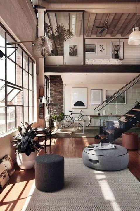 99 Rustic Penthouse Apartment Design Ideas For You 99bestdecor Loft Apartment Designs Loft Apartment Decorating Loft Interiors