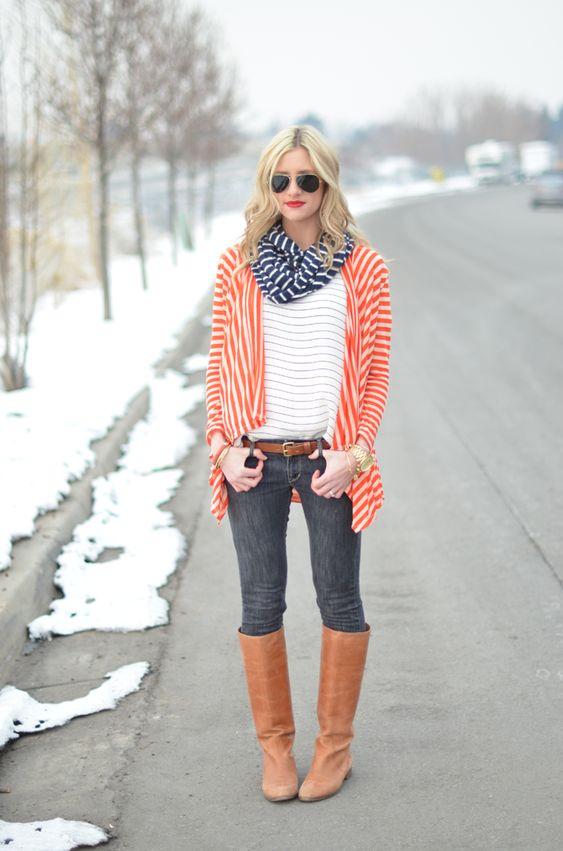 Fashionable Boho Winter Outfit