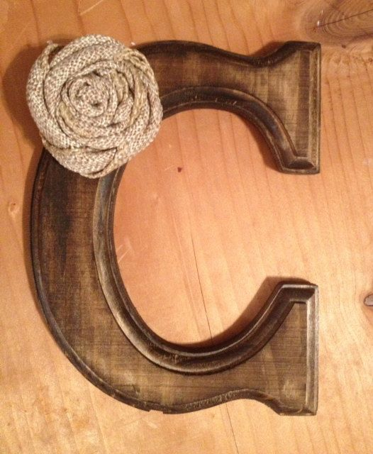 Rustic Cake Topper Letter C with or without Pearl by ...