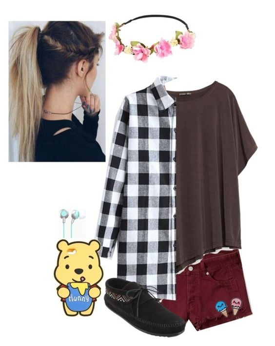 """""""Just be you!"""" by babyjones3 ❤ liked on Polyvore featuring Capelli New York, Abercrombie & Fitch and Minnetonka"""
