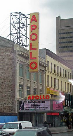 The Apollo Theater in New York City is one of the oldest and most famous music halls in the United States, and the most famous club associated almost exclusively with African-American performers.