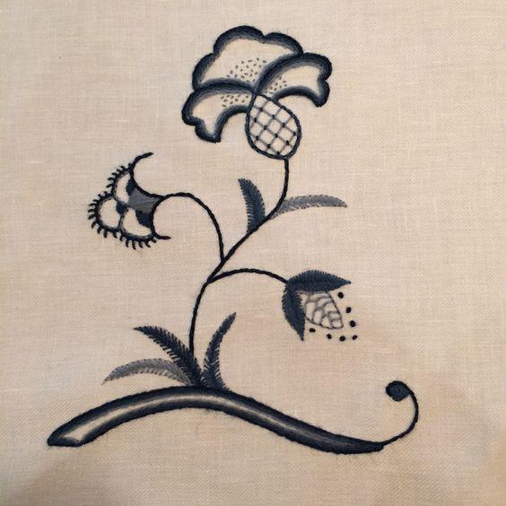 Deerfield Embroidery sampler