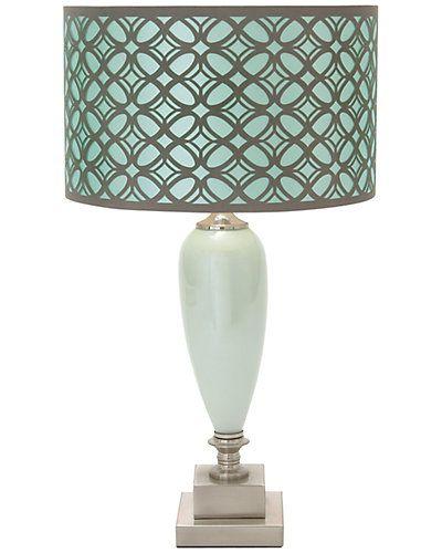 Rue La La — 24in Metal & Glass Table Lamp