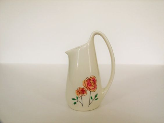 Vintage Ben Seibel Iroquois China Creamer Rose Design 1950's on Etsy, $5.00