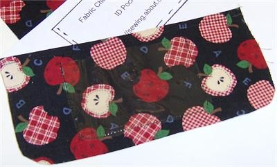 Fabric Checkbook Cover - Free  Pattern & Directions: Optional Vinyl ID Pocket