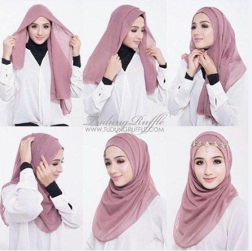 Tutorial Hijab Wanita Cantik Segi Empat Kerudung Wanita Hijab