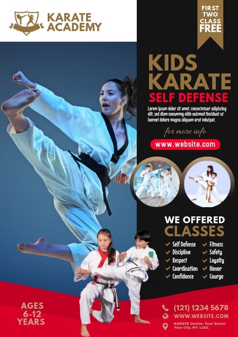 Karate Class Flyer Karate Classes Karate Flyer