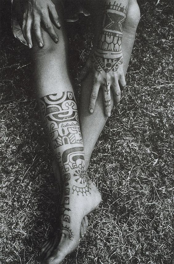 tattoos of a maohi woman. claude coirault
