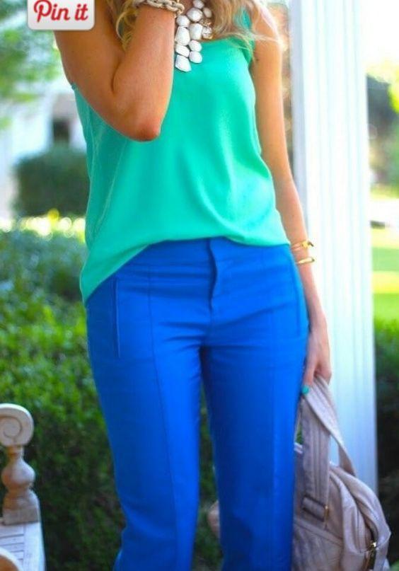 Bright blue hues