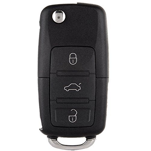 Scitoo Keyless Entry Remote Flip Key Fob Shell 1pc 4 Button Replacement Fit Volkswagen Beetle Golf Jetta Passat Hlo1j0959753am