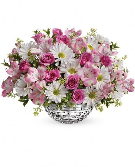 Teleflora's Facets Of Spring Centerpiece: