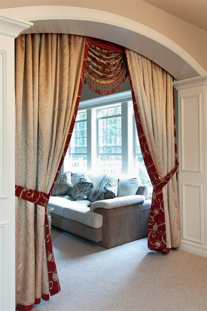 Curtains Ideas brown valance curtains : Louis XVI Royal Red - Classic Overlapping Style chenille ...