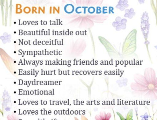 October Borns Facts Personality Traits Marriage And Love Life All You Need To Know About People People Born In October October Quotes Birthday Month Quotes