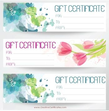 3 gift certificate templates on one page PTO stuff Pinterest - editable certificate templates