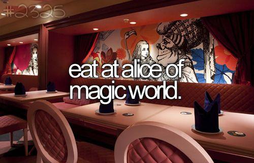 Restaurant in Tokyo, Japan. Alice in wonderland themed!