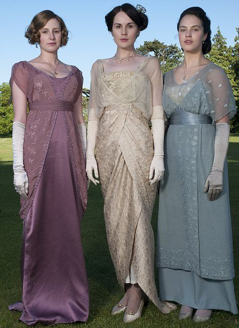 Love these dresses...and Downton Abbey.