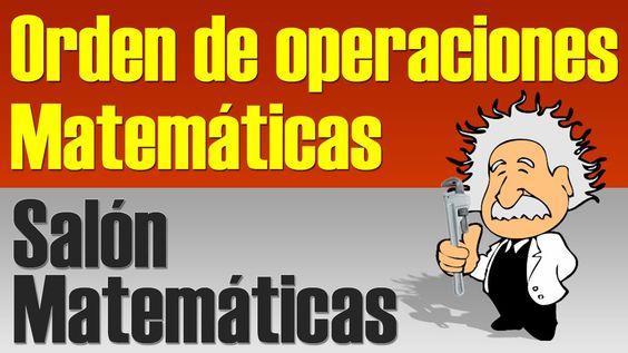Orden de Operaciones Matematicas