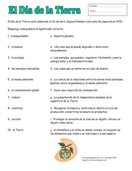 Printables Ecology Vocabulary Worksheet ecology vocabulary worksheet davezan teach environmental words with this spanish earth day collection of worksheet