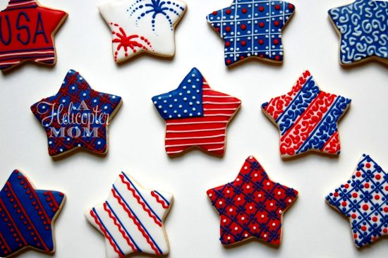 4th of july cookie designs