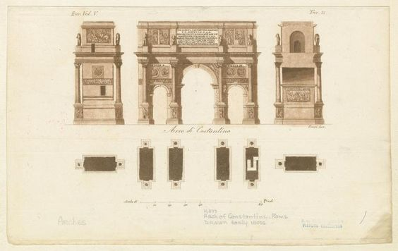Arco di Costantino. From New York Public Library Digital Collections.